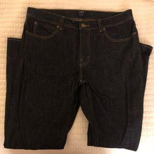 J Crew Men's Sutton Jeans in Super Dark Wash
